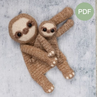 Duo Deal: Luiaard en mini luiaard Pdf patroon